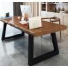 桌子美式工业风实木办公桌写字桌简约现代台式loft长桌电脑桌书桌
